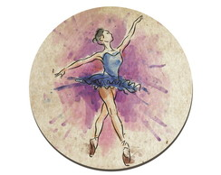 Placa decorativa tema BAILARINA