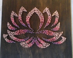 Flor de Lotus degrade em String art