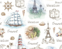 Papel de Parede Casual Vacation Travel