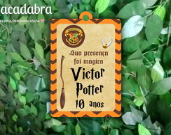 Tag de agradecimento Harry Potter