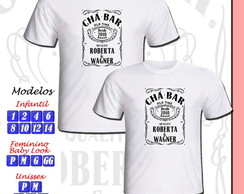 01 Camiseta Personalizada Chá Bar New Game Chá de Panela