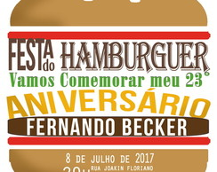 Arte Digital Festa do Hamburguer