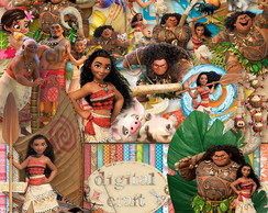 Kit Scrapbook Digital - Moana