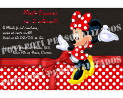 Convite digital Minnie Mouse (Disney)