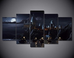 Quadro 5 partes Harry Potter 1,50x0,90