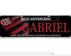 Placa do flamengo personalizada times