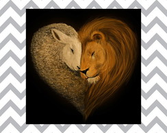 "Plaquinha ""Lion And The Lamb"""