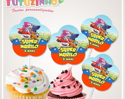 Topper cupcake Super Wings