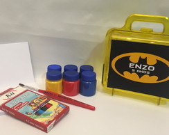 Kit pintura na Maleta Batman