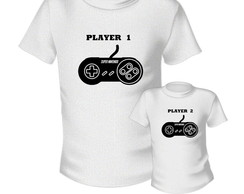 Camiseta player 1 e 2