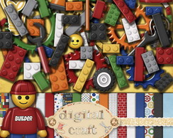 Kit Scrapbook Digital - Lego