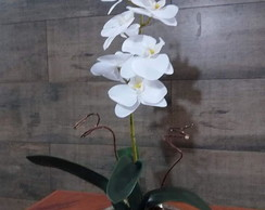 Arranjo Artificial Orquídea Branca