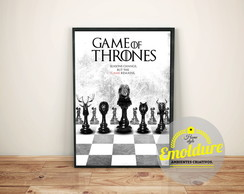 Pôster com moldura - Game of Thrones
