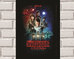 Poster com Moldura Stranger Things