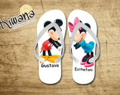 Chinelo Personalizado Mickey e Minnie