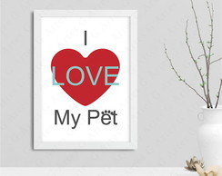 Quadro I love my pet 114s