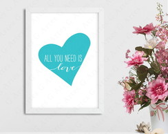 Quadro all you need is love 142s