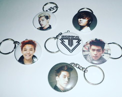 Conjunto de Chaveiros do Grupo BIG BANG