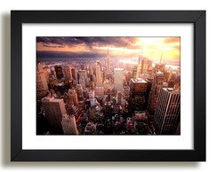 Quadro Nova York Empire State Manhattan Decoracao Sala