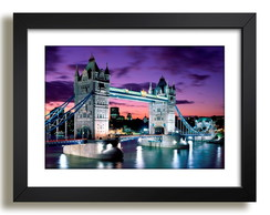 Quadro Londres Tower Bridge Cidades Ponte Decoracao Sala