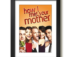 Quadro how i met your mother Filmes Series TV Decoracao F35