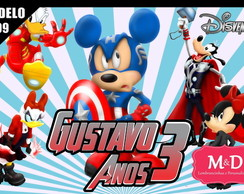 Painel Sublimado Mickey Avengers