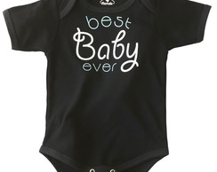 Body de bebê preto best baby ever