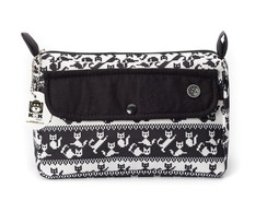 Necessaire Trapézio Cats Black And White