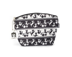 Necessaire Pequena Cats Black And White