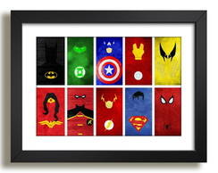 Quadro Filmes TV Herois Decor F35