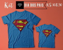 KIT 2 CAMISETAS SUPERMAN