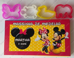 Kit Massinha 12 cores Minnie e Mickey