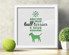 Quadro Decorativo Bull Terrier