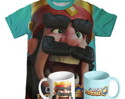 Kit Camiseta e Caneca Clash Royale