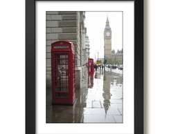Quadro Big Ben Londres Red Phone Box Cidades Decoracao Sala
