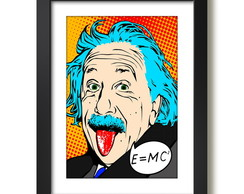 Quadro Albert Einstein Física Pop Art Decorativo Sala Quarto