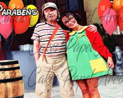 Chaves E Chiquinha Papel de Arroz