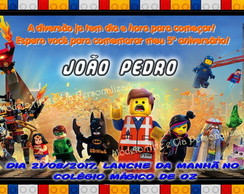 Convite Lego Movie