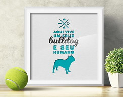 Quadro Decorativo Bulldog