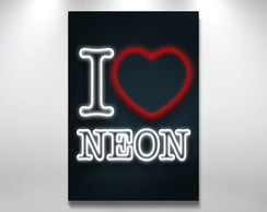 Placa Decorativa amo neon