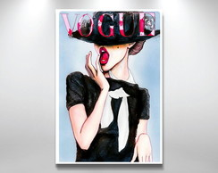 Placa Decorativa Vogue