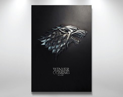Placa poster Game of thrones Stark