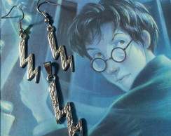 Conjunto de colar e brinco Harry potter