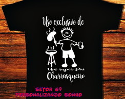 Camiseta papai churrasqueiro