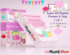 Super Kit Digital Tags e Frames Scrap