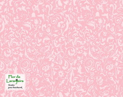 Tecido Arabesco Rose Patchwork 25cm
