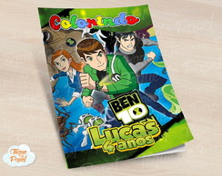 Revista colorir Ben 10
