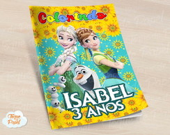 Revista colorir frozen fever