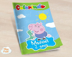 Revista colorir George Pig