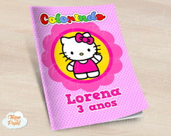 Revista colorir Hello Kitty